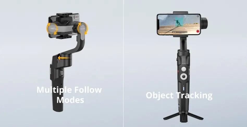 折り畳み可能でコンパクトに持ち歩けるスマホ用スタビライザー「MOZA Mini-S」