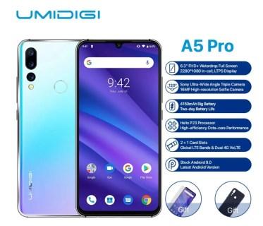 【セール価格$99.99】UMIDIGI A5 Pro スペックレビュー Helio P23搭載トリプルレンズカメラの6.3インチスマホ
