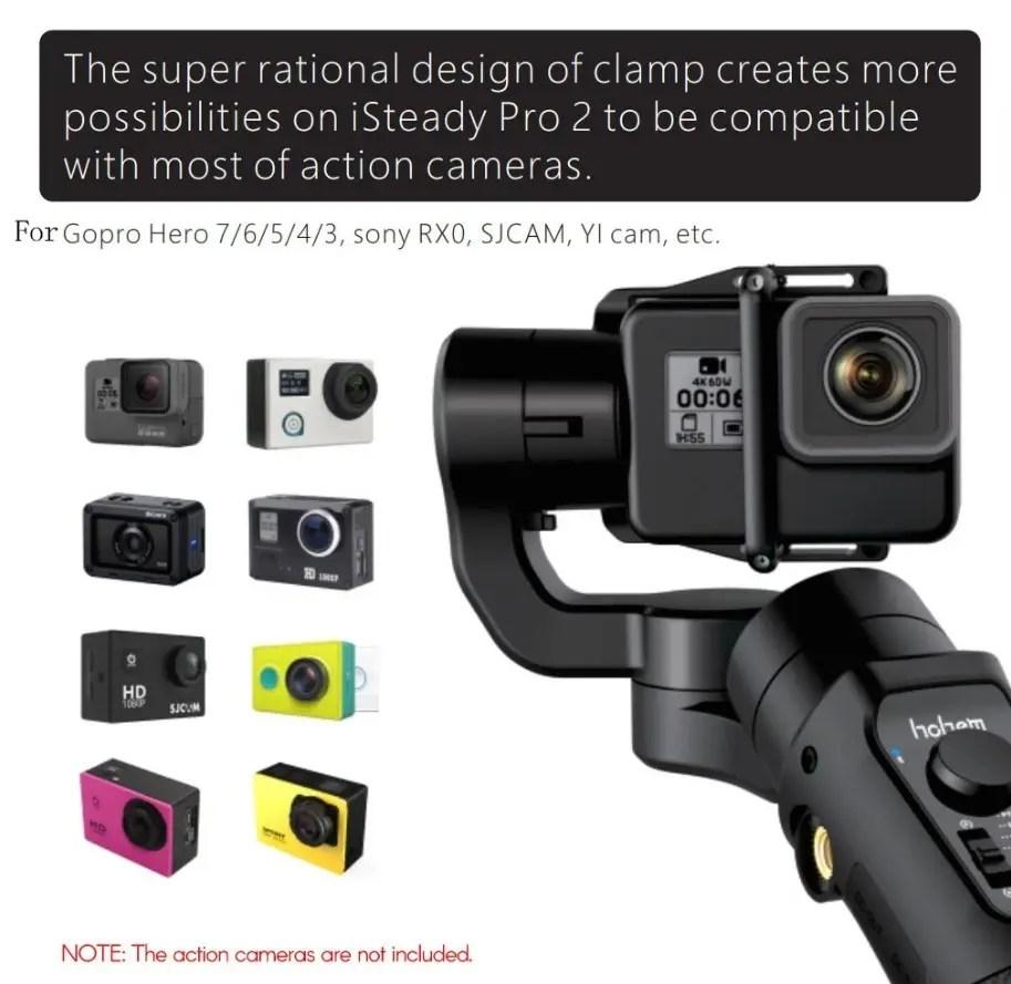 hohem iSteady Pro 2 アクションカメラ用ジンバルスタビライザー