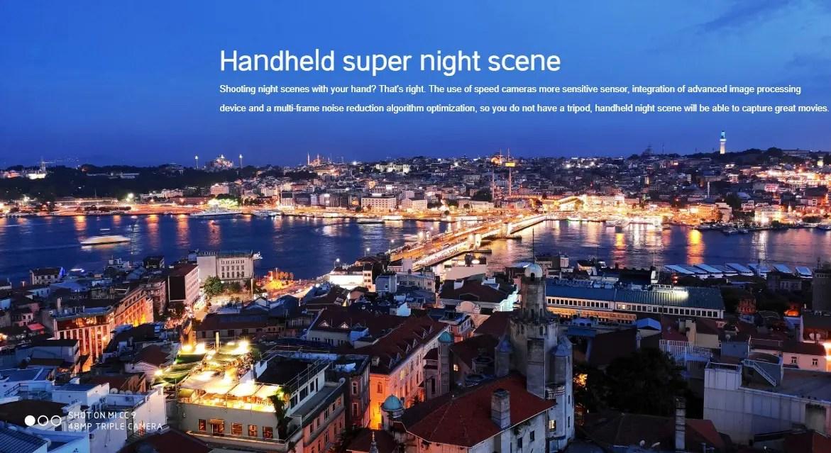 Xiaomi Mi CC9の手持ちのスーパーナイトシーンでの撮影サンプル