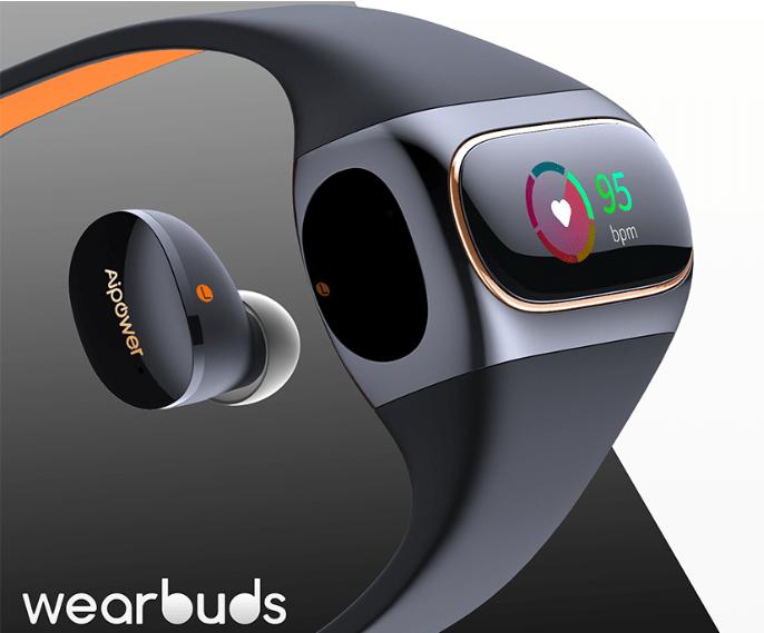 Wearbuds Apt-X対応イヤホンを内蔵したスマートウォッチがクラウドファンディングサイトに登場!早割で25%割引も!