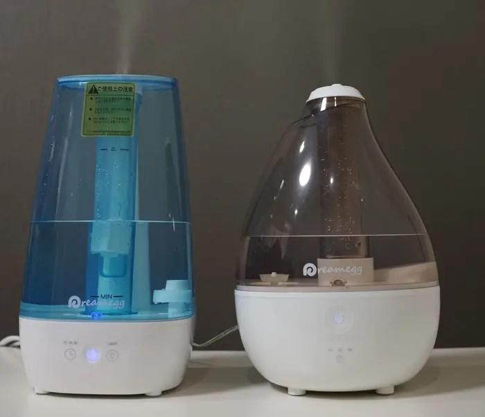 Amazonおすすめ超音波加湿器比較レビュー 外観・水分量など参考画像