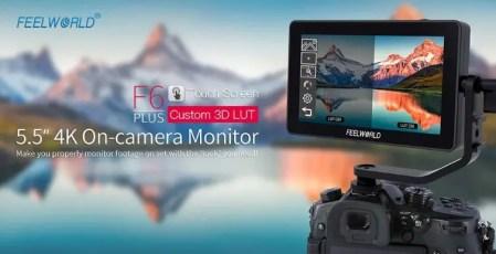 FEELWORLD F6 Plus 5.5インチのカメラ用モニターが15,327円でセール中