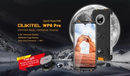 OUKITEL WP8 Pro セール開始~価格は$119.99、先着400名はイヤホン付き!