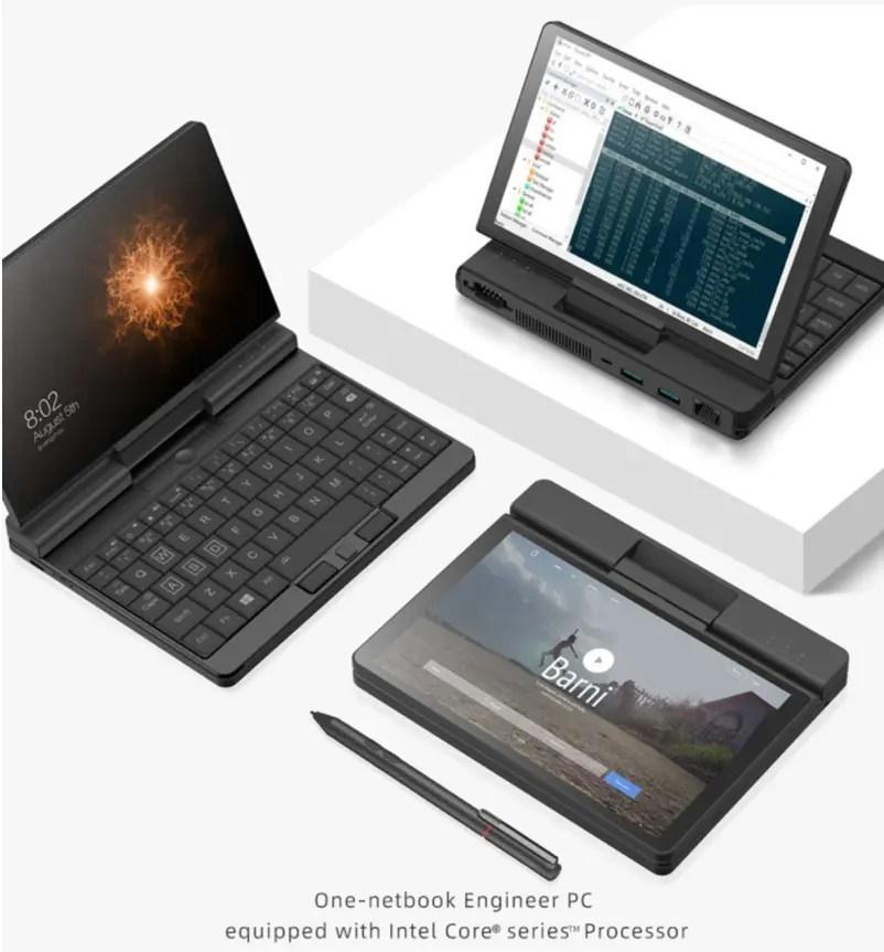 『One Netbook A1』M3-8100Y・7インチ・画面が360度回転するUMPCのスペックレビュー