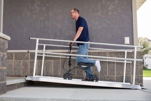 My Mobility offers knee walkers and portable aluminum ramps - in both permanent and suitcase ramp styles.