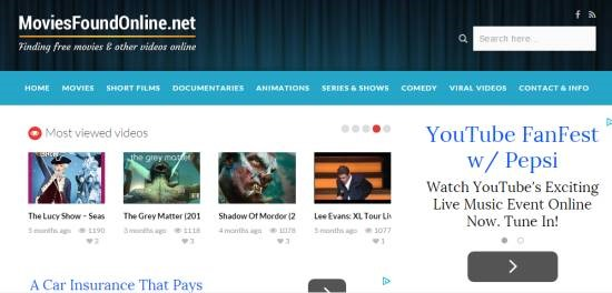 Movies Found Online- watch free movies online