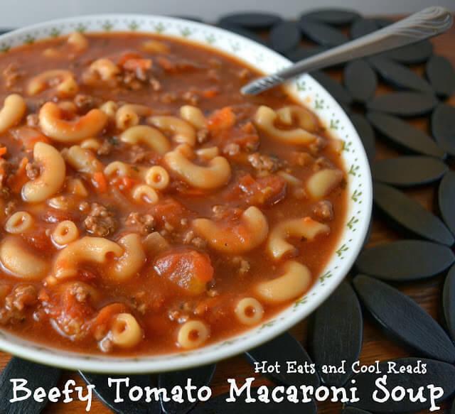 Beefy Tomato Macaroni Soup | Homemade Tomato Soup Recipes