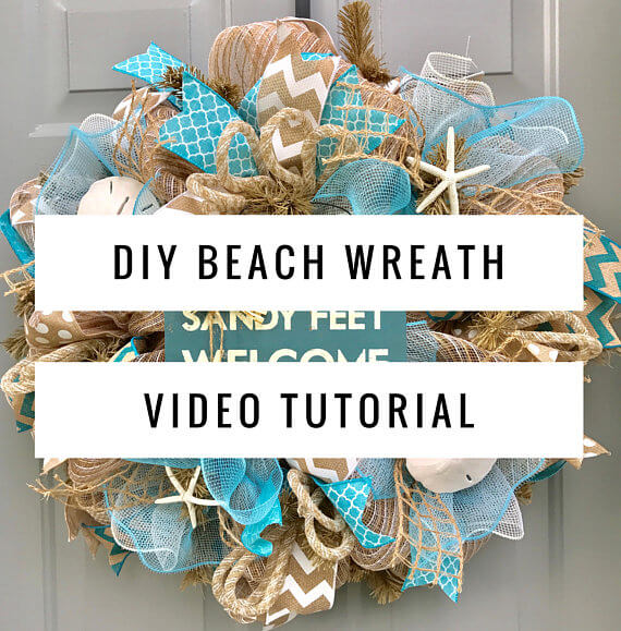 DIY Project Ideas to Make and Sell - beach wreath tutorial