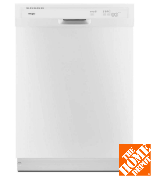 Whirlpool Front Control Built-In Tall Tub Dishwasher in White