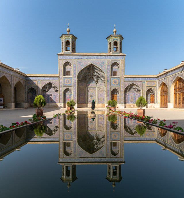 Courtyard of the Nasir al-Mulk Mosque in Shiraz