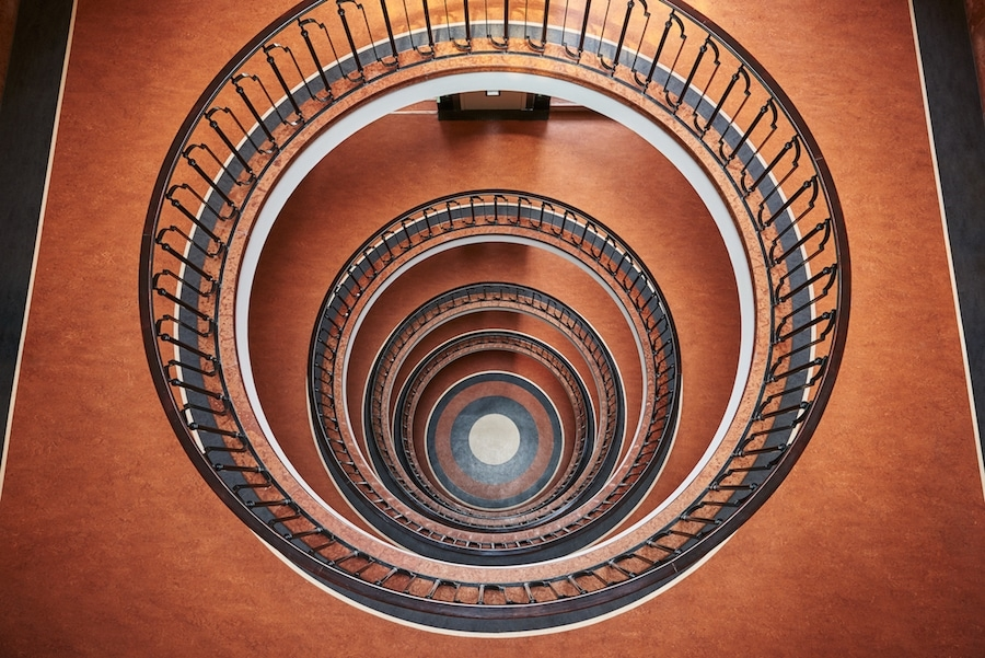 Hypnotizing Architectural Photography Of Spiral Staircases | Spiral Staircase Los Angeles | Loft | Handrail | 42 Inch | Romantic | Double Spiral
