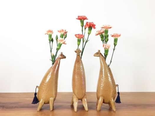 giraffe animal air plant vases Yoshiko Kozawa studio giverny etsy plants