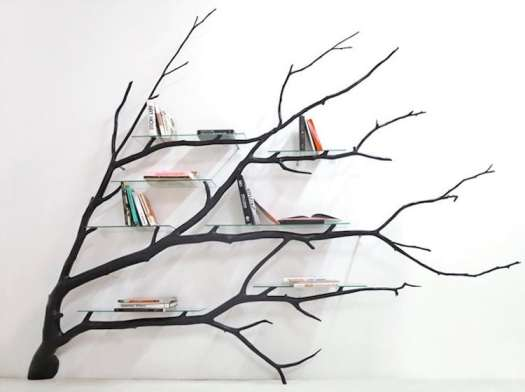 unique bookcases creative bookshelves books design tree nature branches