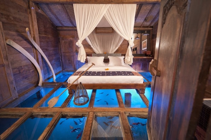 underwater hotel stay in an unusual place