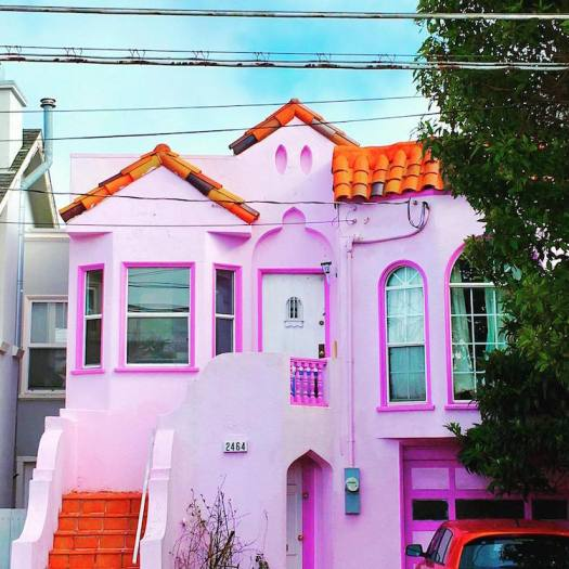 san francisco's candy-colored houses spring colorful homes architecture
