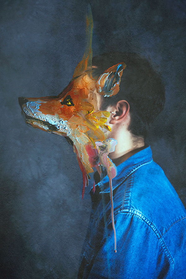 paintings merged with photographs art photography