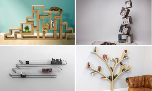unique bookcases creative bookshelves books design