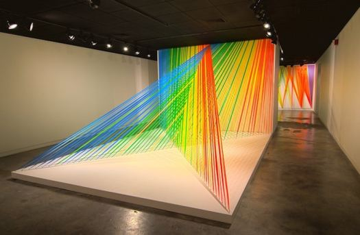 rainbow art installations rainbow installations design colorful art