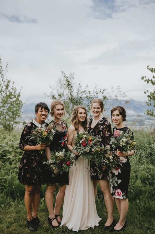 Floral Bridesmaid Dresses Floral Print Bridesmaid Dresses Bridesmaid Gown