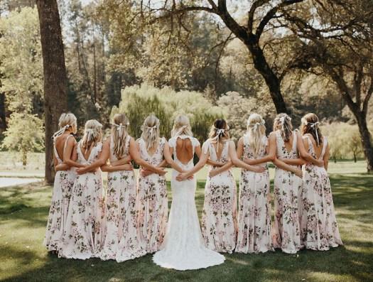 Floral Bridesmaids Dresses Floral Print Bridesmaid Dresses Bridesmaid Gown