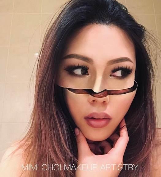 Mimi Choi Optical Illusion Art Makeup Art