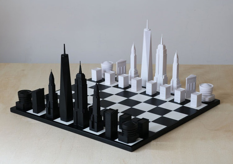 Stylish Chess Set Pieces Modeled After Iconic NYC Architecture