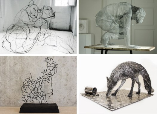 Wire Sculpture Wire Art Contemporary Sculpture