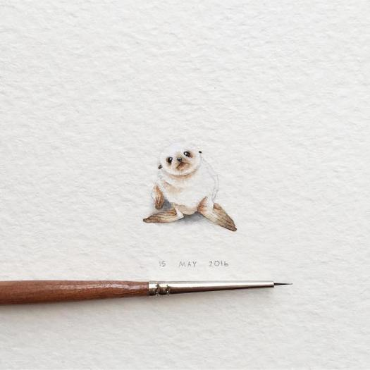 Miniature Paintings Animal Paintings Watercolor Animals Irene Malakhova