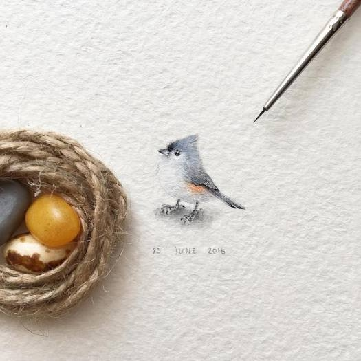 Miniature Paintings Tiny Creatures Irene Malakova