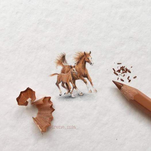 Miniature Paintings Animal Drawings Tiny Creatures Irene Malakova