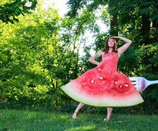 Watermelon Optical Illusion Dress