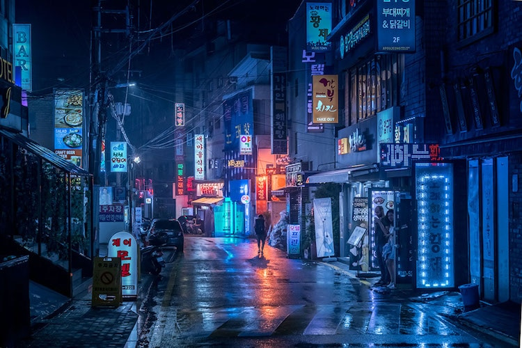 Cityscape City at Night Asia Travel Ultraviolet Break of Day Marcus Wendt