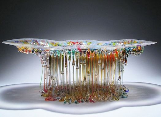 Glass Jellyfish Tables Glass Sculpture Daniela Forti