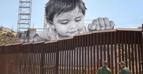 Street Artist JR Installs Powerful Artwork Along Mexican ...