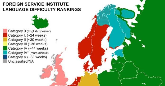 European Language Map Reveals The Hardest Language To Learn
