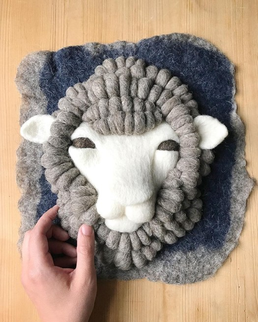 Felted Animals by Holly Guertin aka Ernie and Irene
