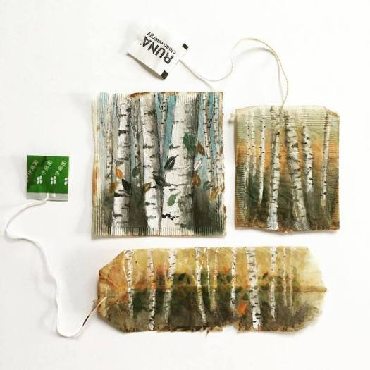 Tea Bag Paintings Ruby Silvious