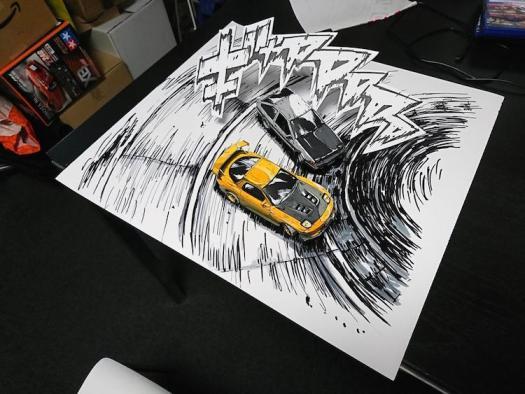 Manga Art Optical Illusion by SHINGA