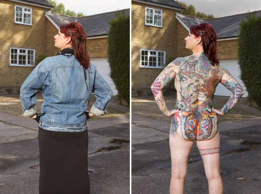 Photo of Woman with Tattoos by Alan Powdrill
