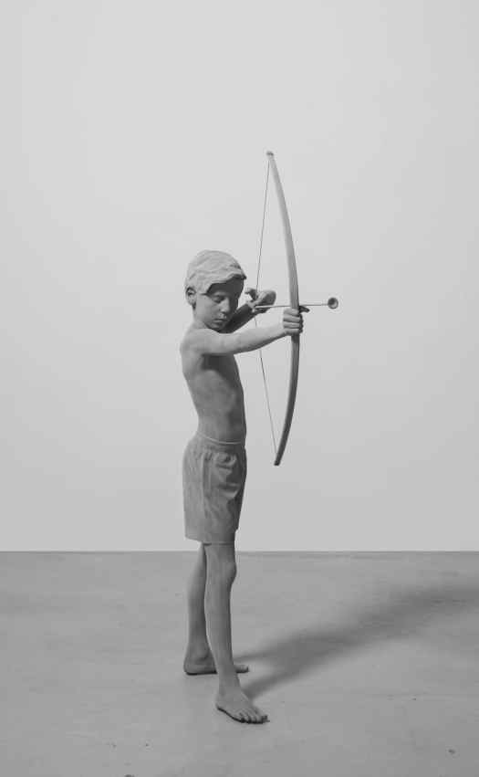 Life Size Sculpture Timo by Hans Op de Beeck