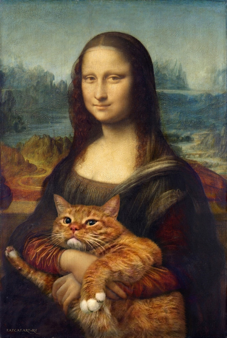 Classic Art with a Cat