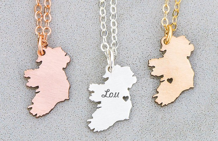 St. Patrick's Day Gifts Ireland Necklace