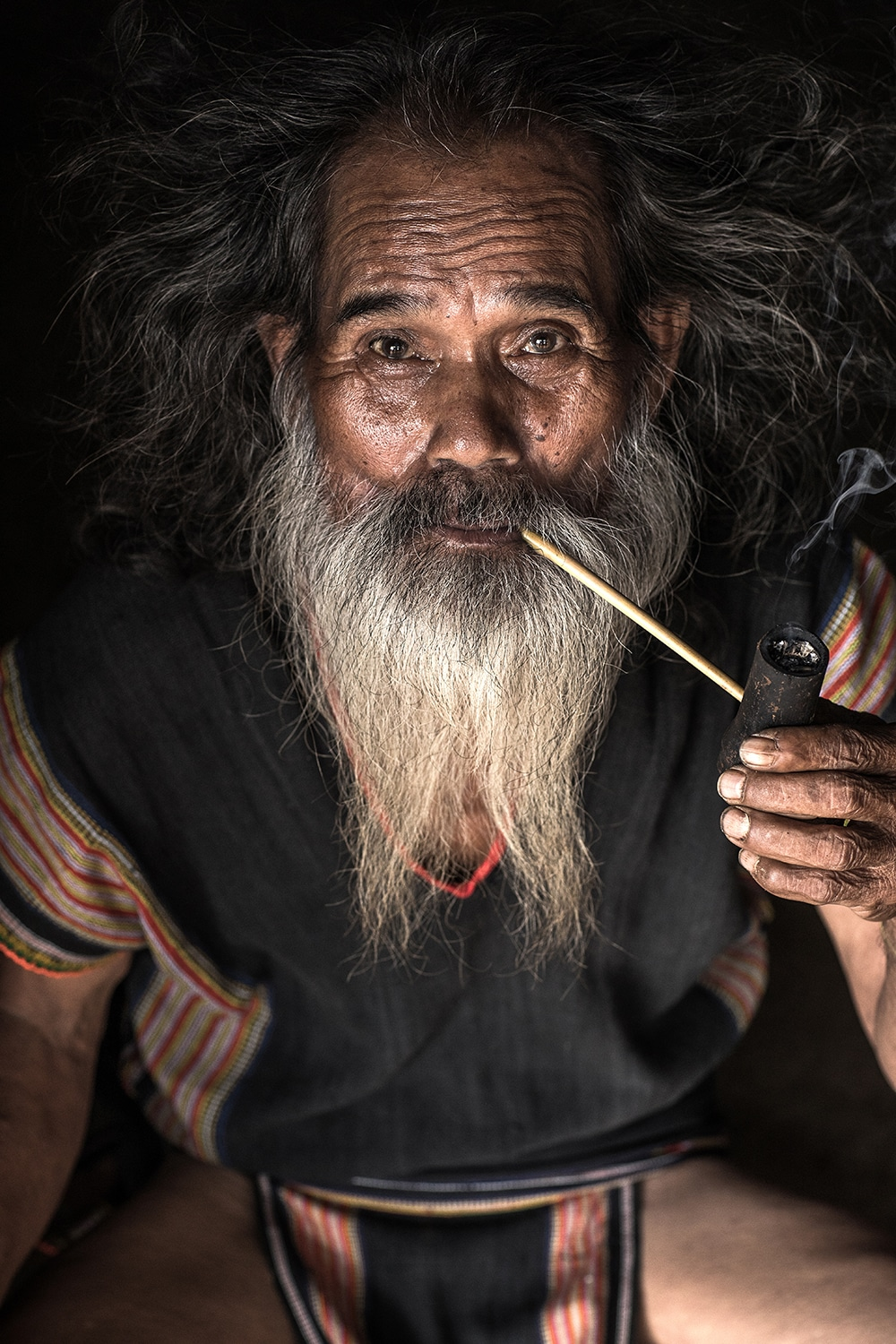 Portrait of a Man from the Xo Dang Ethnic Tribe in Vietnam by Réhahn