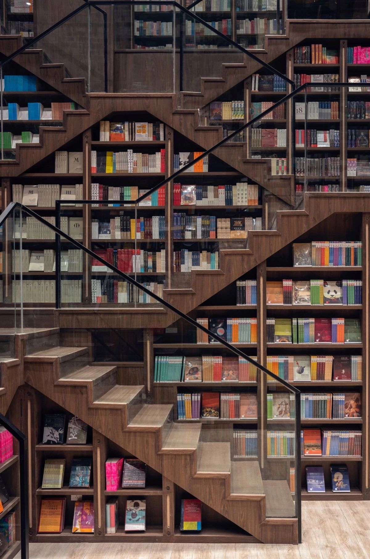 Beautiful Bookstore Filled With Fantasy Optical Illusions