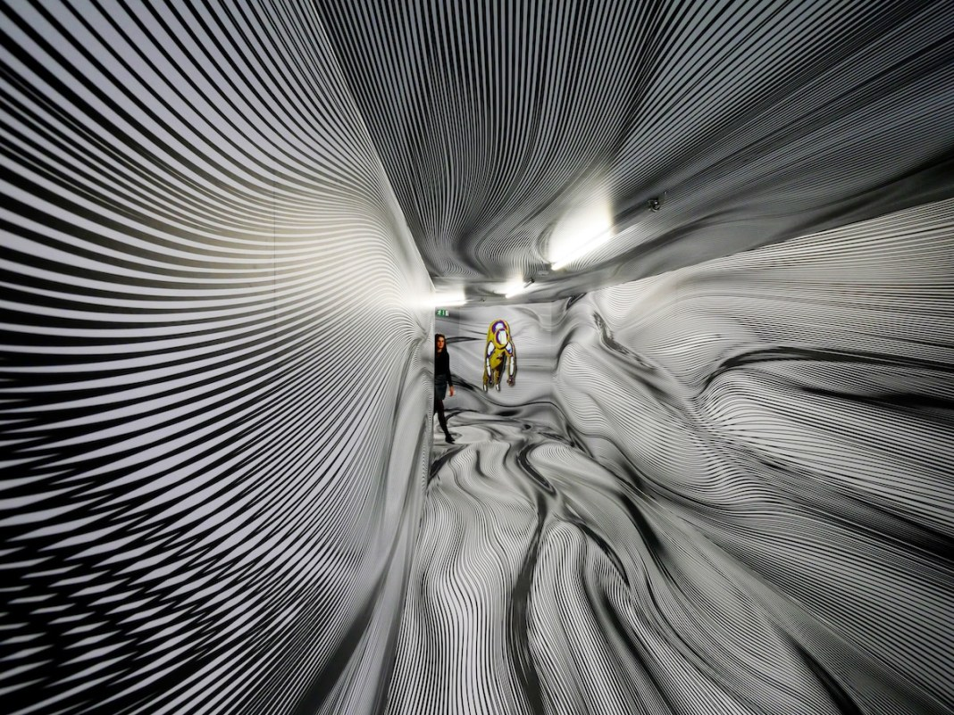 Line Art Immersive Installation by Peter Kogler