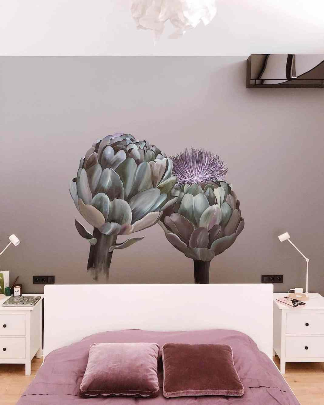 Flower Mural Wall Art by Lilit Sargsyan