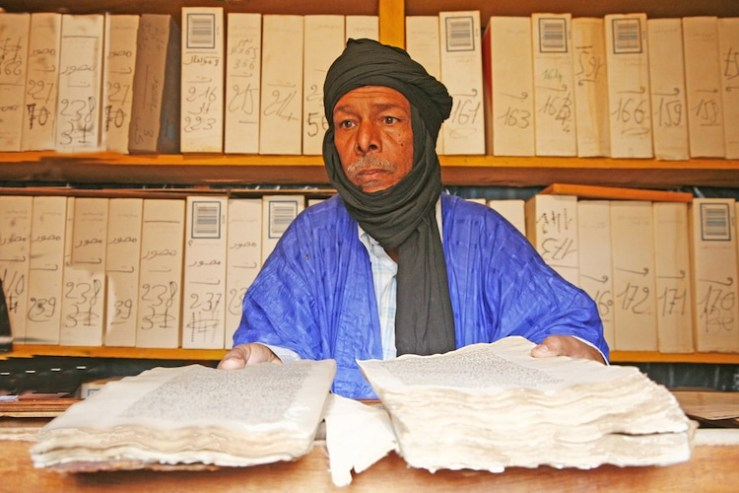 Library in Chinguetti, Mauritania