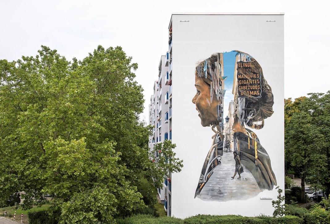 Mural in Berlin by Cristian Blanxer