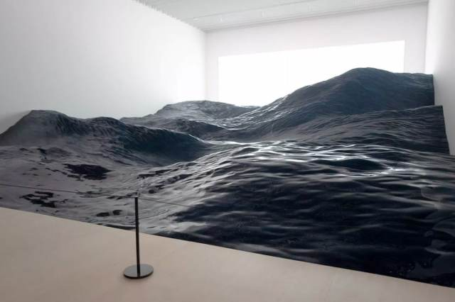 Ocean Waves Contact Installation by Mé for Mori Art Museum